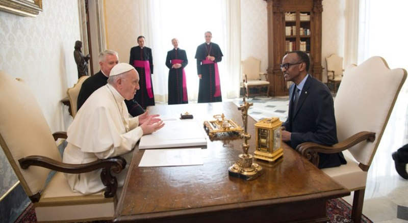 Papa Francis yagiranye ikiganiro na Perezida Paul Kagame i Vatikani (Photo/Courtesy)