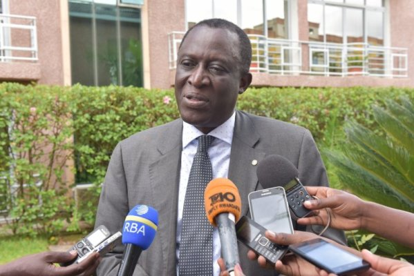 Attaher Maiga, FAO Representative to Rwanda speaking to the media. (Photo/Elias Hakizimana)