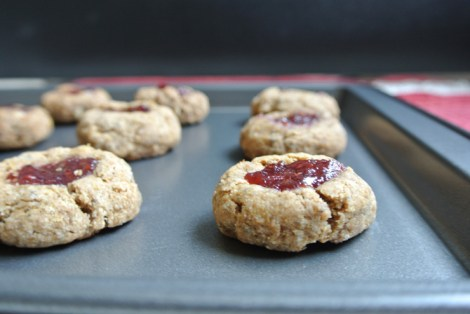 Vegan Jam Thumbprint Cookies