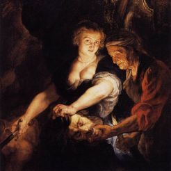 Peter Paul Rubens, Giuditta con la testa di Oloferne, 1616; Braunschweig, Herzog Anton Ulrich-Museum.