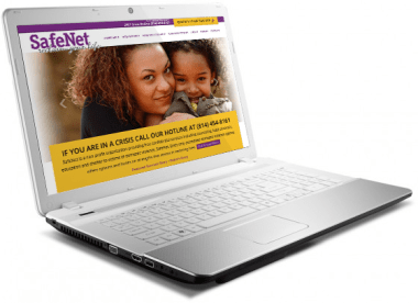 Responsive website design for Safenet by PAPA Advertising in Erie, PA