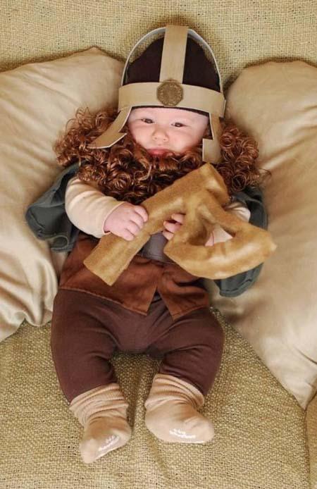 D Guisement Halloween B B Viking Papa Panique