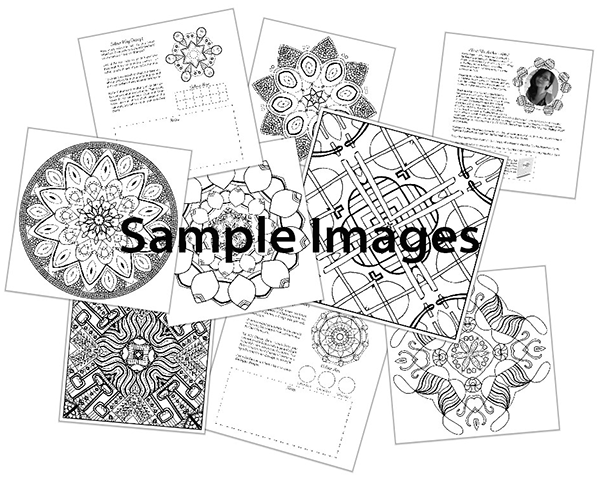 Sample Colouring Book Images from Colour Bliss: Kaleidoscopes