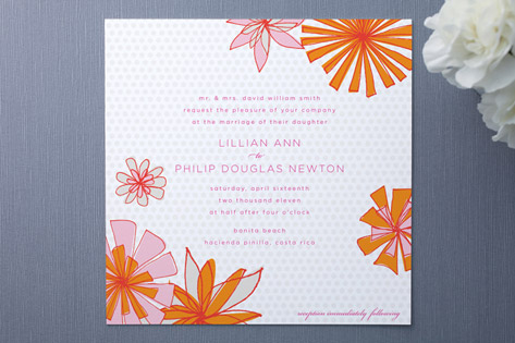 Pocketful of Posies Wedding Invitations