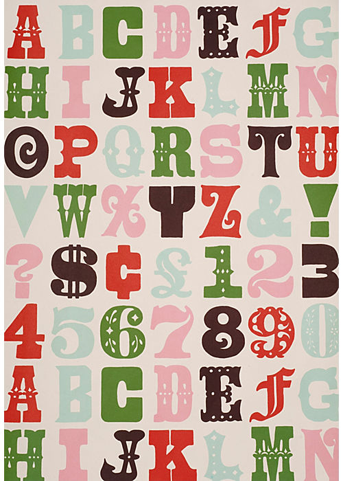 Sukie Alphabet Gift Wrap