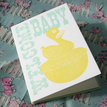 A. Favorite Letterpress Duckies Card