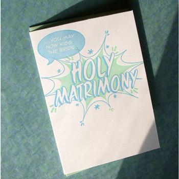 A. Favorite Holy Matrimony Letterpress