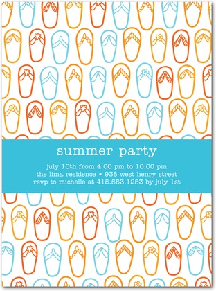 Summer Necessity Party Invitations
