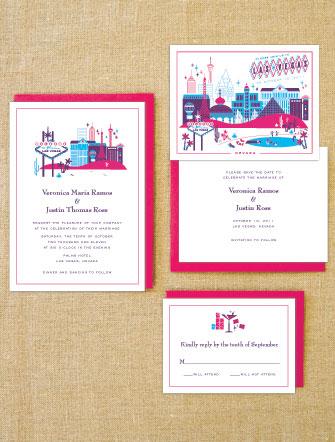 Lab Partners Hello Lucky Las Vegas Wedding Invitations
