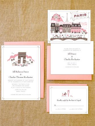 Lab Partners Hello! Lucky Paris Wedding Invitations
