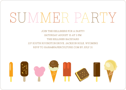 Summer Sweets Party Invitations