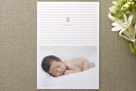 Daisy and Stripe Birth Announcements by Kelli Hall