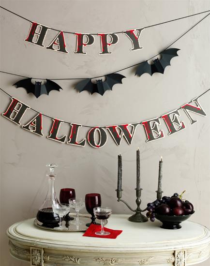 Martha Stewart Crafts Happy Halloween + Bat Garland