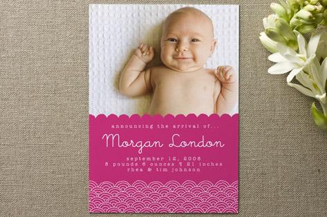 Naomi Birth Announcements by Alex Elko Design
