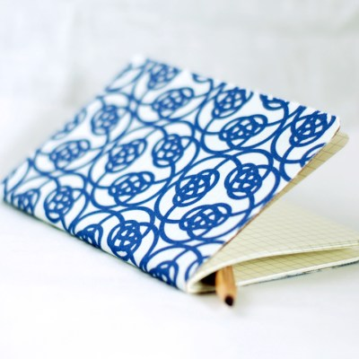 Cottage Industrialist Fabric Covered Notebook