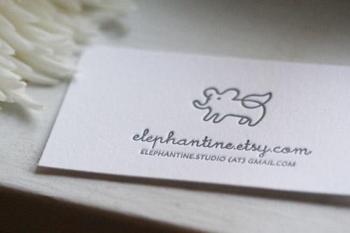 Elephantine Letterpress Business Cards