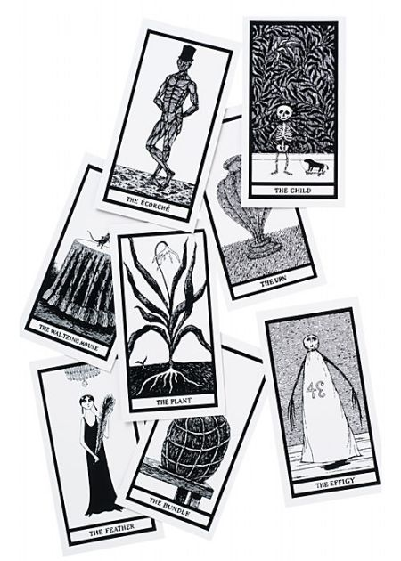 Edward Gorey Fantod Tarot Cards