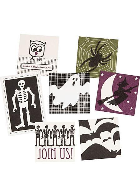 Halloween Letterpress Tags