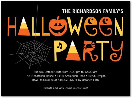 Halloween Party Invites Spooky Soiree
