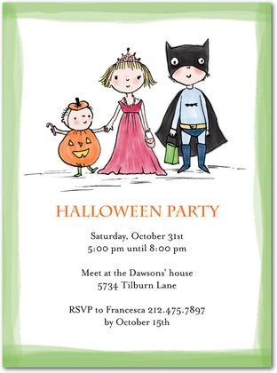 Halloween Treat Seekers Invitations