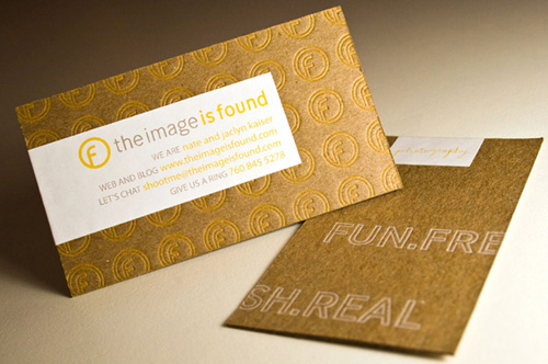 Image Is Found Letterpress Business Cards