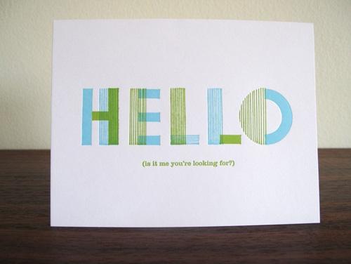 Lulu Dee Letterpress Greeting Cards