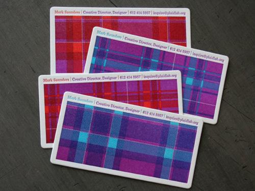 Mark Saunders Letterpress Business Cards