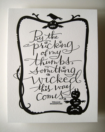 Something Wicked This Way Comes Letterpress Print
