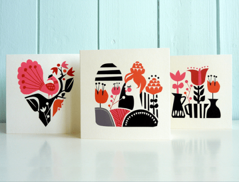 Woodland Greeting Cards Darling Clementine
