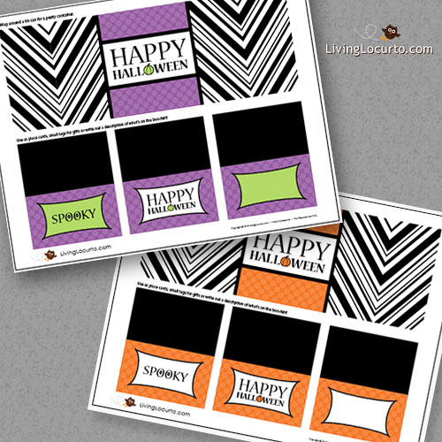 Printable Halloween Labels Place Cards