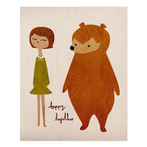 Love Sugar Happy Together Art Print