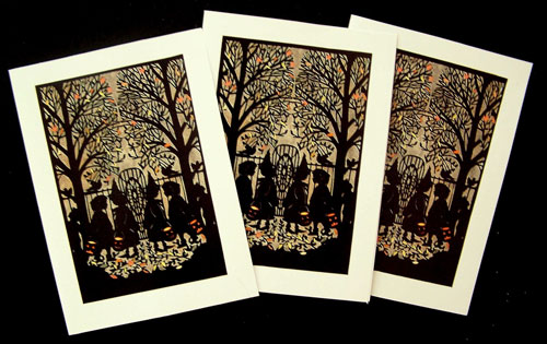Nancy Michalak Paper Cut Halloween Card