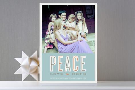 Peace Love Hope Holiday Photo Cards