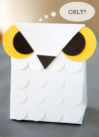 Snow Owl Favor Box