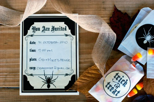 Printable Halloween Party Invitations