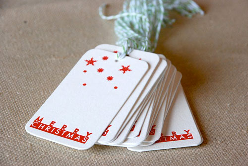 Cartoules Letterpress Christmas Gift Tags