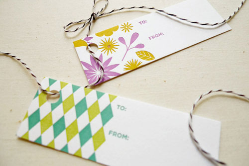 Fine Day Press Letterpress Gift Tags