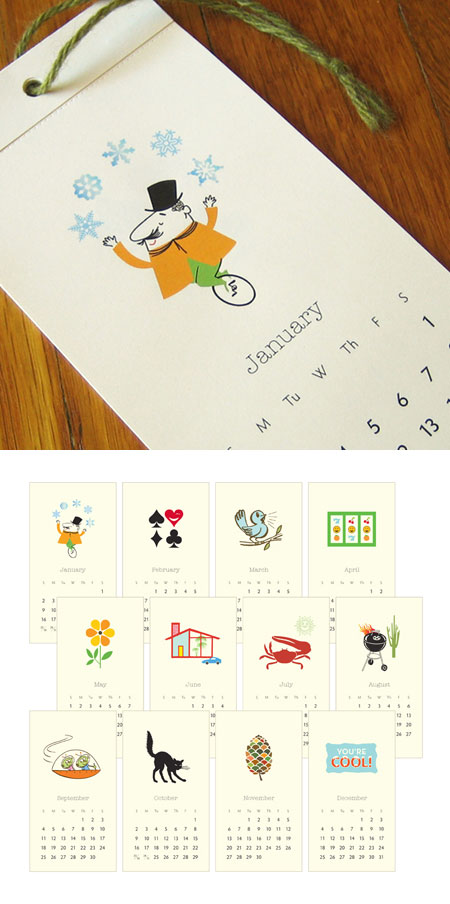 2011 Petite Wall Calendar Inklosures