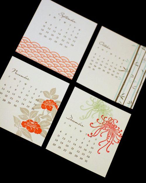 Exotic Letterpress Calendar