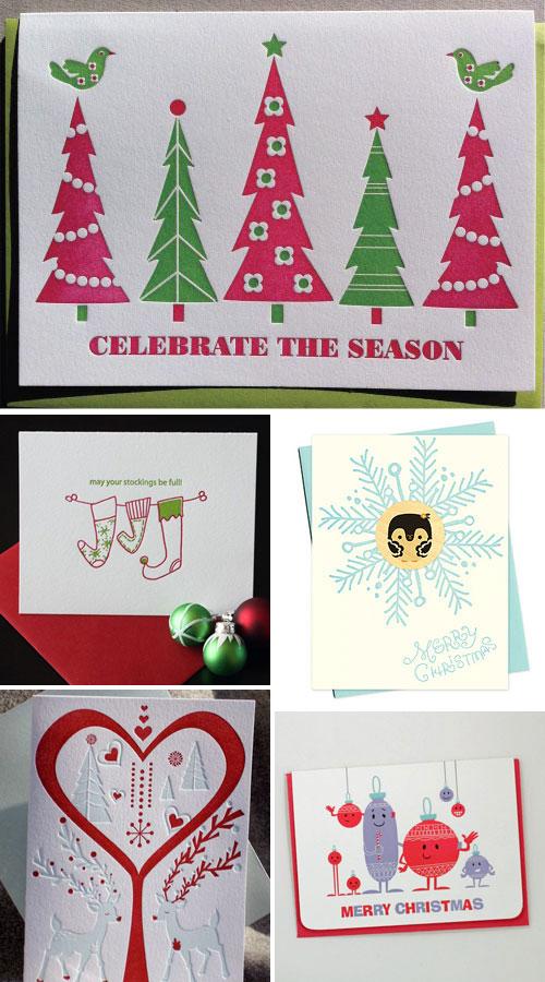Holiday Letterpress Cards