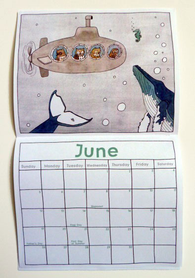 Sadly Harmless Calendar