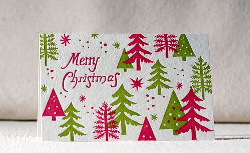 Letterpress Holiday Cards Smock Paper
