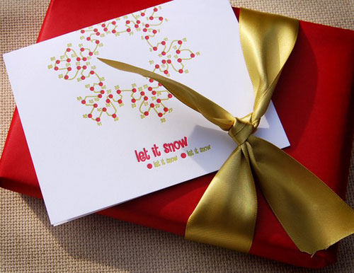 Connect the Dots Letterpress Holiday Cards