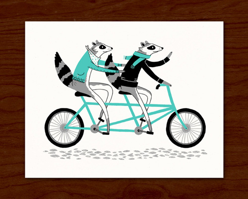 Alyssa Nassner Raccoon Screen Print