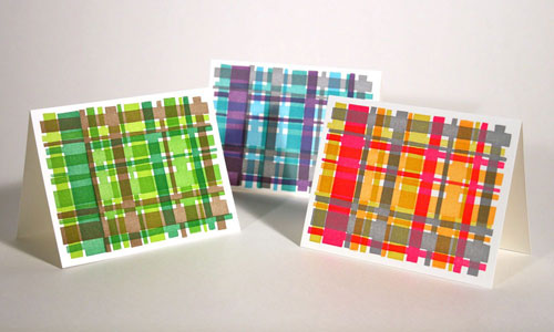 Letterpress Madras Note Cards