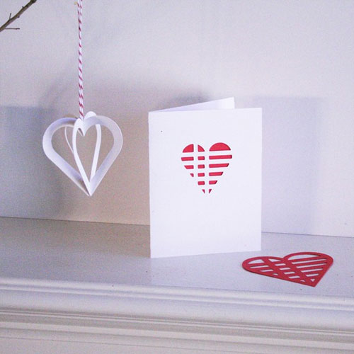Valentine's Day Heart Ornament and Card