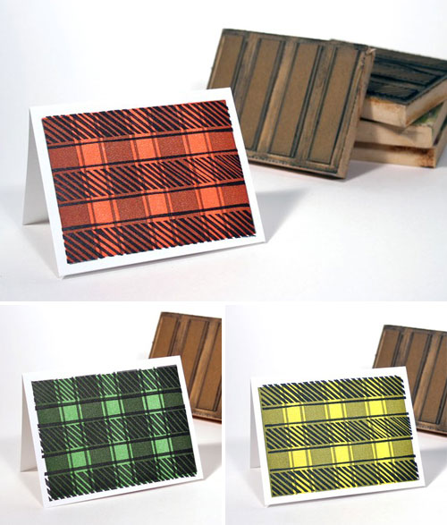 Letterpress Tartan Note Cards