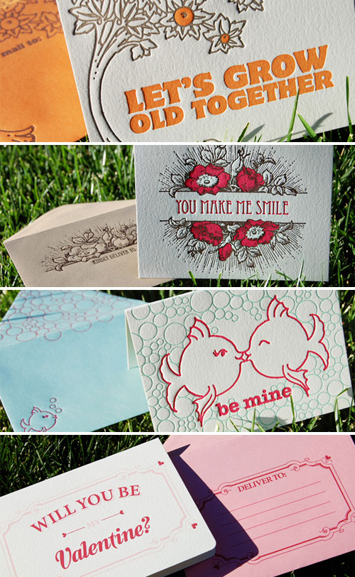 Wiley Valentine Letterpress Cards