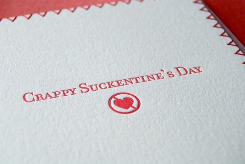 Crappy Suckentine's Day Card