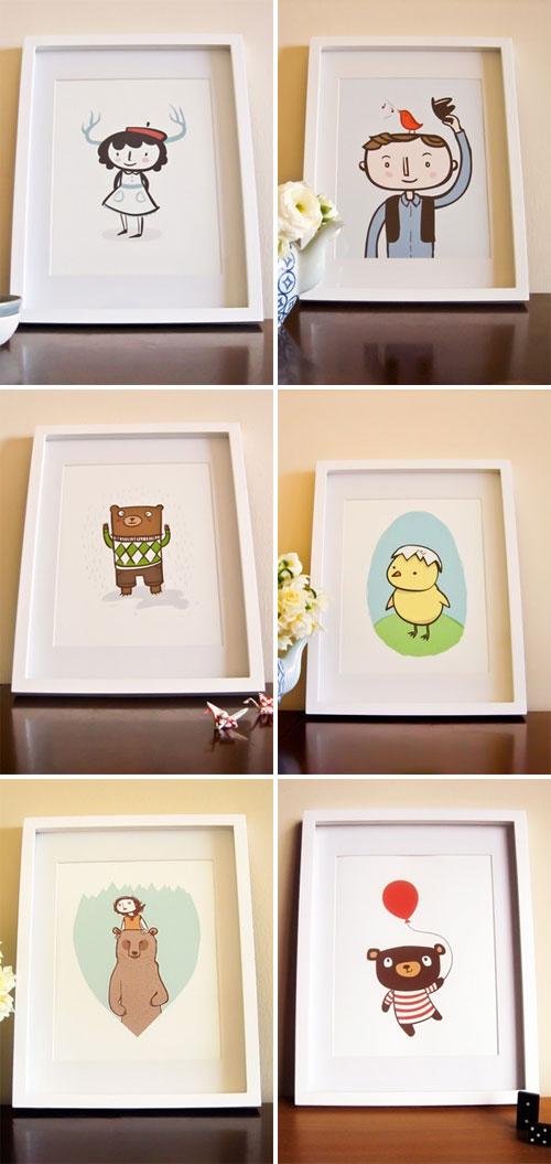 Milk and Cookies Art Prints